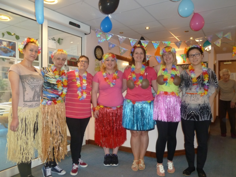 Corina's Hawaiian Leaving Party