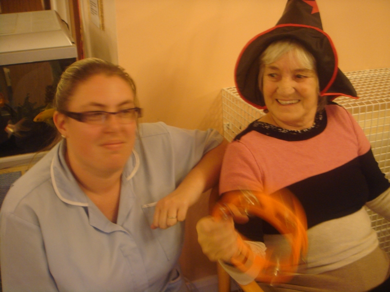 Resident Ann and staff member Louise