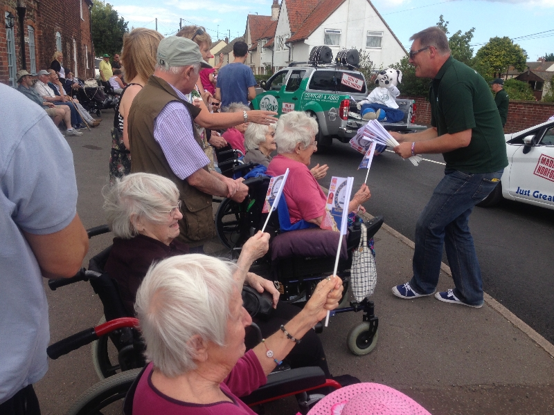 The residents from Dereham and Wells enjoy watching the Wells carnival parade 5