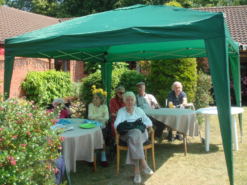Chilling in the shade at the Dorrington House Dereham Fete 2013!
