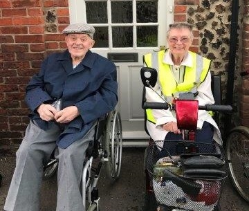 Resident Leslie and his wife Monty at Wells Carnival!