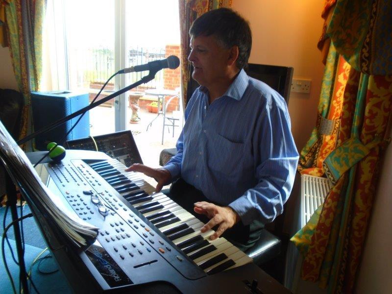Entertainer Mister John visits Dorrington House Wells for a musical performance!