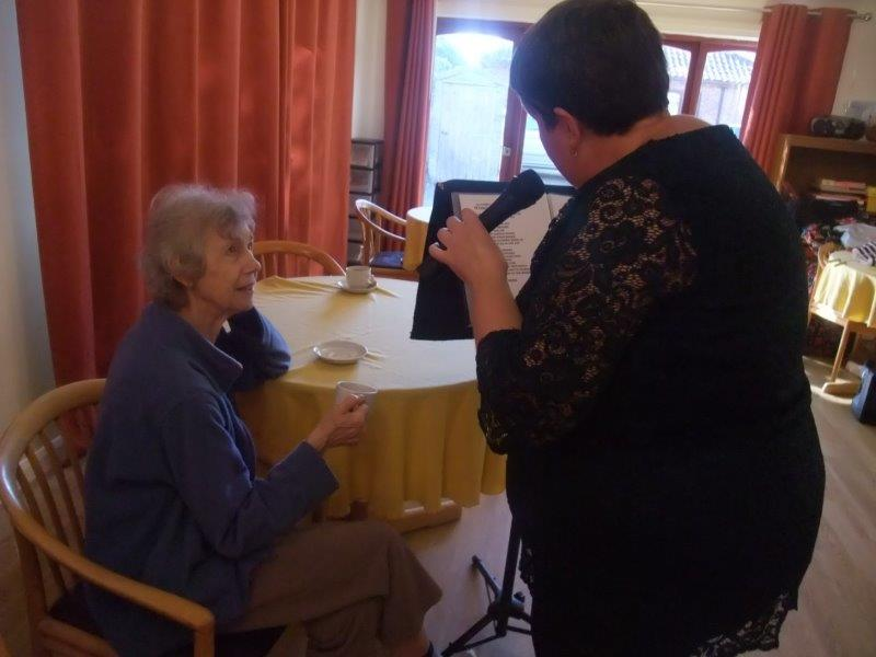 Entertainer Carolyn and Resident Sally both enjoying some musical entertainment at Dorrington House Dereham!