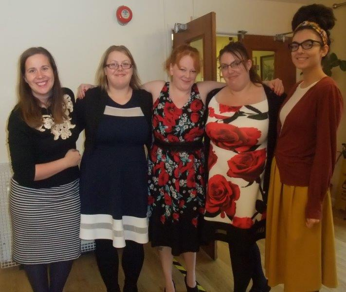 Our main organisers of the 50's themed dancing for dignity coffee morning were; (carers) Joanne, Gemma, Catriona, Louise and Elizabeth our activities co-ordinator.