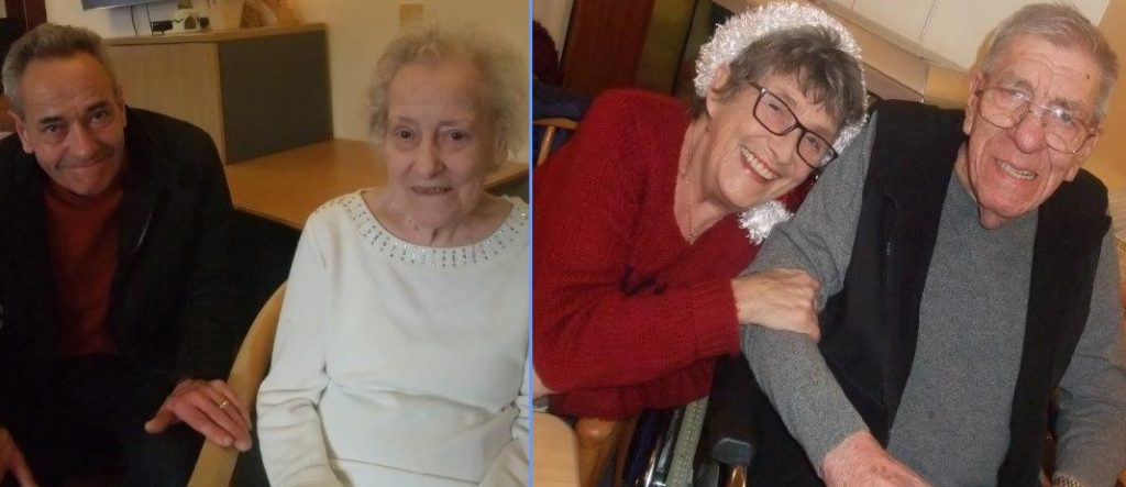 Dorrington House Dereham's residents & relatives christmas party! (Right) Resident Norman and his wife.