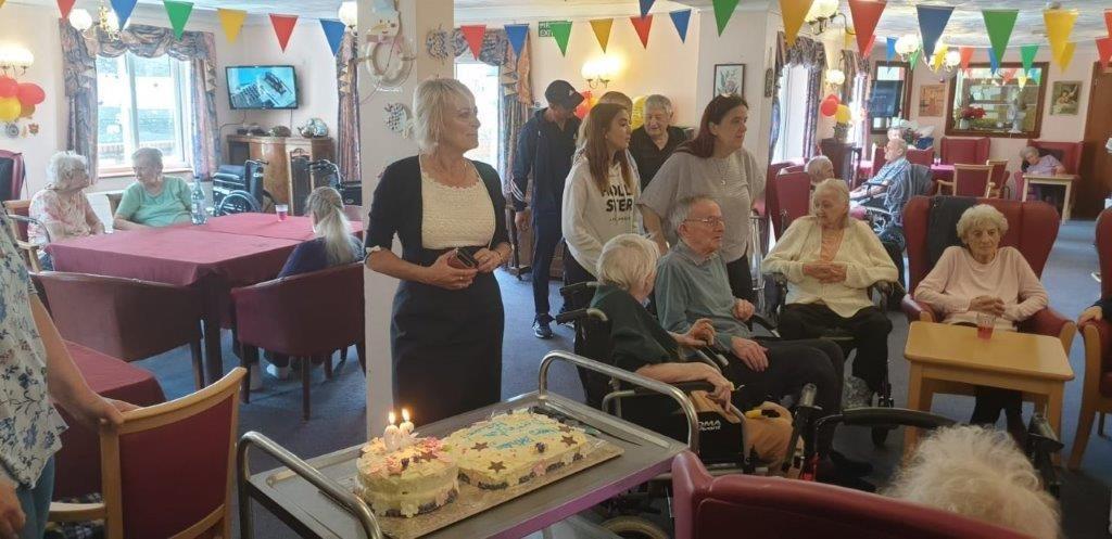 Dorrington House Watton's 20th Birthday, the birthday candles are lit!