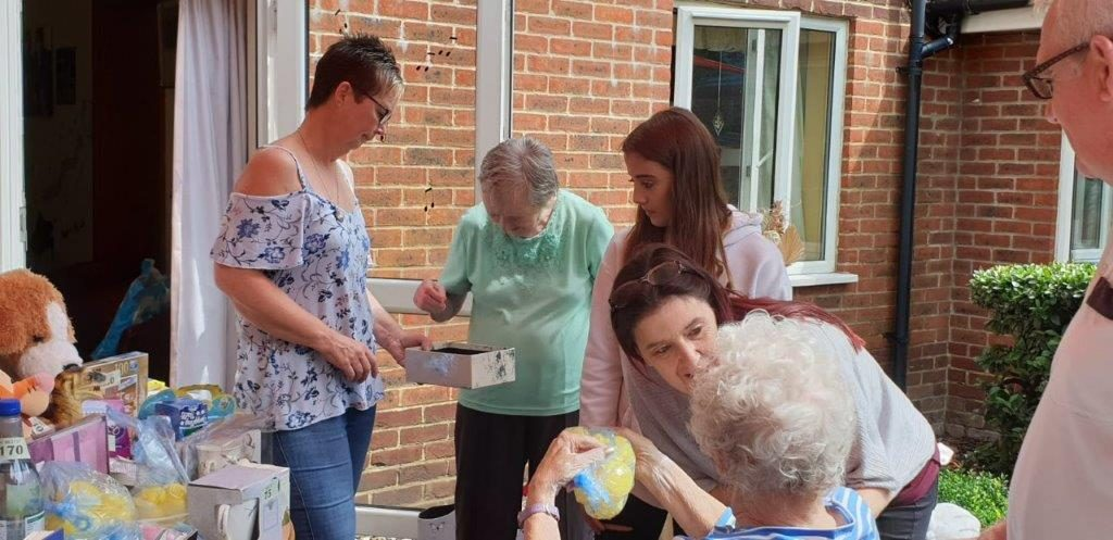 Manager Cheryl and Carer Wendy helping out at one of our many stalls for Dorrington House Watton's 20th Birthday!