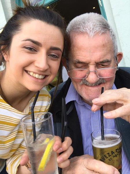 One of our team leaders Francesca with resident Ken as part of Dorrington House Dereham's trip to wells next the sea!